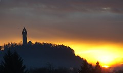 Beautiful Sunrise (nancy II) Tags: winter sun monument sunrise scotland stirling wallace wallacemonument