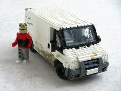 Ford Transit 'white' van (1) (Mad physicist) Tags: ford lego dirty transit van figures whitevanman