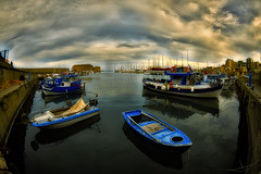 Heraclion port (dtsortanidis) Tags: sea castle port canon boats island photography europe mark fisheye greece ii crete 5d 15mm heraclion dimitris meditteranean dimitrios 815mm tsortanidis dtsortanidis