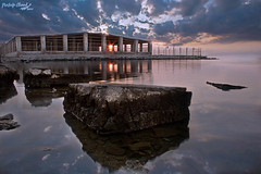 (Mustafa Ahmad) Tags: sea seascape reflection beach square landscape photography eos wide squareformat normal ksa alhasa   twitter    iphoneography instagram instagramapp uploaded:by=instagram mustafamuhna
