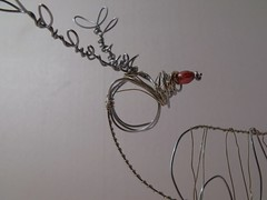little wire reindeer face (Slackgirl) Tags: christmas sculpture art reindeer wire decoration gift christmasdecoration wireart