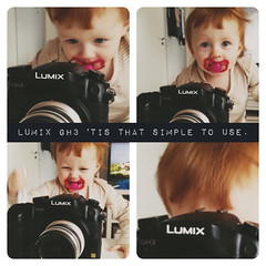 Filippa already want one. (cablefreak) Tags: camera baby fun lumix child interface daughter panasonic user shooting easy operating filippa gh3