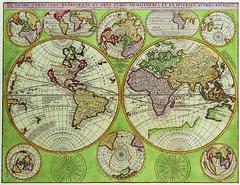 Antique Maps (divinumphoto) Tags: map antiquemapsoftheworld doublehemispherepolarmap vincenzocoronelli c1690