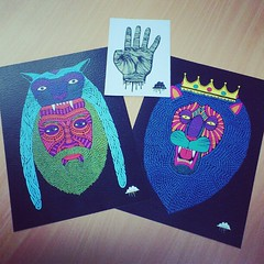 Sending these 2 prints and free original artwork to a happy customer (Mulga The Artist) Tags: square squareformat amaro iphoneography instagramapp uploaded:by=instagram