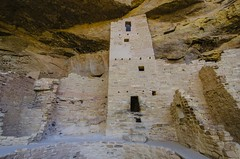 Cliff Palace Tower (rschnaible) Tags: world park cliff usa west verde heritage us site ancient colorado native antique indian pueblo palace national american western mesa anasazi