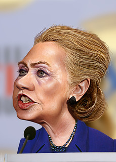 From flickr.com/photos/47422005@N04/8261179505/: Hillary Clinton - Caricature