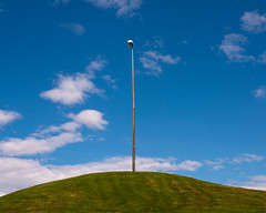 lamp on a hill (Thomas Leth-Olsen) Tags: lamp strange clouds funny hill shapes minimal hamar locations urbanabstract