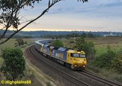ANs leading (highplains68) Tags: railroad rail railway australia nsw newsouthwales aus maldon freighttrain southernhighlands 2122 mittagong an4 garbagetrain anclass an11