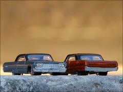 Black roofs (tonywheels) Tags: roof black chevrolet car toy miniature couple wheels chevy hotwheels 164 impala lowrider diecast tonywheels