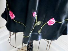 black charmeuse half slip detail (piper ewan) Tags: handsewn halfslip vintageinspired ribbonroses biascut