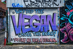 I wish they would eat meat (Urban Pixel - I believe in Karma and Canon Cameras) Tags: fitzroygraffiti urbanart spraypaint aerosolart fitzroystreetart urbanpixel fitzroy streetphotography graff australiangraffiti canon7dmk2 2016 lush graffitiart lushsux