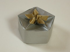 Tomillo pentagonal box (Mlisande*) Tags: mlisande origami box tomokofuse jorgejaramillo
