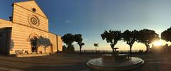 Basilica di Santa Chiara - Assisi (sandroo) Tags: panoramica pano iphone sunset tramonto umbria santachiara basilica italy italia assisi