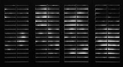 Closed (arbyreed) Tags: arbyreed bw window windowwednesdays blinds plantationblinds windowtreatment saltlakecityutah hww