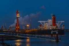 Harbour activity at Blue Hour (tribsa2) Tags: nederlandvandaag marculescueugendreamsoflightportal holland harbour vessel ship schip