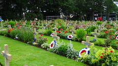 French crosses at Thiepval (Richard Buckley) Tags: somme centenary picardy france battle war memorial poppies field corn scene view statue soldier basilica cross headstone grave greatwar worldwar1 caribou troops irish newfoundland australian shell artillery cemetery trench ceremony