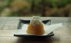 Mango (m_travels) Tags: mango dof depthoffield kodakgold200 japaneseteagarden goldengatepark peaceful zen relaxing analog filmphotography argentique 35mm simple pentaxk1000 sweet juicy food plate mood haiku