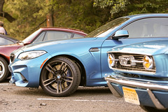 BMW M2 and Ford Mustang (Jeff_B.) Tags: cars caffe bergen newjersey newyork carscaffe automobile classic exotic exotics auto car italian german fireplace carsanddecaf carsandcoffee coffee bmw m2 ford mustang firstgeneration 2series bimmer blue warm usa
