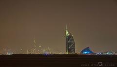 Iconic Skyline of Dubai (Like The Ocean) Tags: dubai longexposure nightscape skyline travel