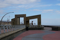 Blackpool South Promenade (Chris Dimond) Tags: 2016 blackpool seafront promenade art statue mirrorball