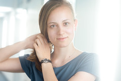 Angela (mbromberger) Tags: workshop light portrait girl striplights hair shoulderportrait availablelight hdm