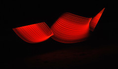 Red Waves (Alyssa_Morton) Tags: red blue green paint light abstract beach cool pretty piating pixel stick amazing woah shapes color motion dark night black edit sand