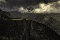 Dinorwic (explored 22/9/16 #2) (MarkWaidson) Tags: dinorwic dinorwig slate quarry llanberis wales derelict moody brooding sky clouds sunlight mountains waidson bravo