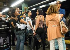 Subway Crowd (UrbanphotoZ) Tags: subway passengers platform waiting women men mother child sunglasses tattoos rosary jenny trashcan garbagecan timessquare westside midtown manhattan newyorkcity newyork nyc ny