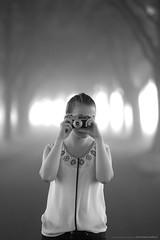 (CarolienCadoni..) Tags: sonyslta99 sal85f14z camera oldcamera blackandwhite dof bokeh trees road misty foggy groningen