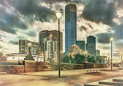 Southbank skyline from Birrarung Marr (IIlustrative Effect) 2016-08-30 (IMG_0452-8) (ajhaysom) Tags: birrarungmarr eurekatower yarrariver melbourne australia canoneos6d canon24105l digitalart