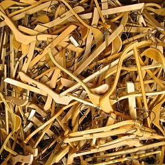 a plethora of hangers (muffett68 ) Tags: filltheframe hangers pethora odc wooden sculptural fashion