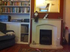 Diane Macmorland (Angelia Marble Fireplace) (Designer Fireplaces) Tags: cat marble fireplace hearth