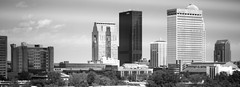 Skyline (arcturus15) Tags: city bw monochrome skyline canon eos downtown kentucky louisville t1i