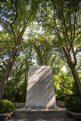 Manhood on Teddy Roosevelt Island. (MightyBoyBrian) Tags: shadow monument washingtondc woods election text wideangle potomac manhood 1635mm teddyrooseveltisland