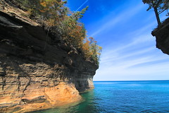 Pictured Rocks Boat Tour (Cole Chase Photography) Tags: autumn color fall canon october upperpeninsula lakesuperior t3i picturedrocks picturedrocksnationallakeshore michigansupperpeninsula picturedrocksboattour picturedrockscruises