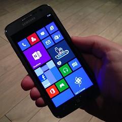 Time for the Windows Phone parade. Samsung ATIV S: comfier than a GS3, still pretty big.