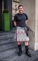 Missoni Kiltie (FotoFling Scotland) Tags: scotland edinburgh kilt hunk kilts porter kilted missoni