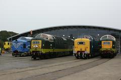 DELTIC, 55009, 55022 and 55015 (matt56120) Tags: grey royal class prototype 55 locomotion scots deltic dp1 rsg shildon alycidon tulyar 55022 d9009 55009 55015 d9015
