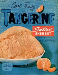1958 Tangerine Seltest Sherbet (1950sUnlimited) Tags: food design desserts icecream 1950s packaging snacks 1960s dairy midcentury snackfood sealtest