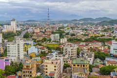 Hue, Vietnam (Philip Espinosa) Tags: morning cloud mountains tower architecture sunrise photography hotel photo nikon colorful hills vietnam viet hue luxury accomodation cityview buidings imperialhotel 5starhotel nikond5100