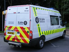 2101 - SJA - Cumbria - Ford Transit - ML61 FWG (Call the Cops 999) Tags: uk england ford st john 22 day open centre united kingdom august ambulance vehicles transit vehicle service van emergency trafford 112 chevron carrier services fwg 2012 999 treatment personnel lightbar ml61 dscf6759