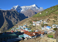 Namche Bazar (photo61guy) Tags: nepal mountains trekking landscape himalaya namchebazar namche platinumheartaward