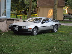Back to the Future, Dudes. (Raccoon Photo) Tags: auto camping light sunset ohio camp sky sun cute fall classic love nature beauty animal rural movie fun outdoors lights cool cabin ominous country sunny bluesky retro nostalgia 80s vehicle movies blueskies eighties 1980s delorean trashy outing goodtimes backtothefuture michaeljfox havingfun cabins sandusky coolcar endofsummer plutonium sanduskyohio ilovethe80s deloreandmc12 deloreantimemachine dolorian onetanktrip 80sretro 80snostalgia 80smovie deloreancar backtothefuturemovie 80sclassic 80scar eightiesnostalgia mrfusionhomeenergyreactor 80scool deloreanbacktothefuture campsandusky 80sbacktothefuture delorean80s michaeljfoxbacktothefuture 80sbacktothefuturecar 80sclassiccar 80sdelorean 80sdeloreancar