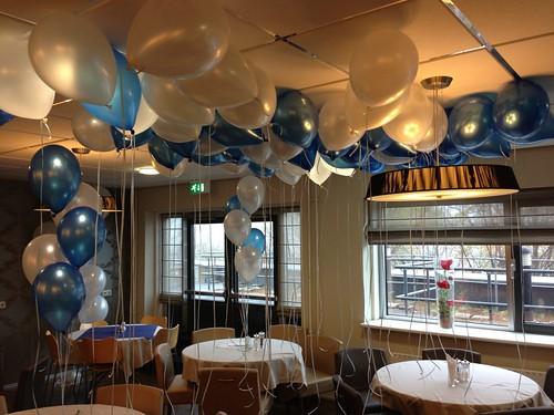 Heliumballonnen Ballonnenplafond Erasmus Universiteit Rotterdam