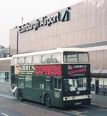 1999-10-31 Guide Friday Edinburgh Airbus Express KYV323X (VV773) Tags: bus london buses airport edinburgh open diesel top transport double deck airbus express guide friday titan tours leyland b15 decker kyv323x