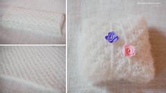 floral wrap + headbands (Michaela Spodniakova) Tags: white flower floral photography knitting handmade lace wrap yarn newborn knitted prop headband forbaby