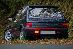 205 GTi (Ortroi Photo) Tags: autumn red motion sport grey gris shot rally rig otoo gti peugeot psa talbot 205 rigshot antracita