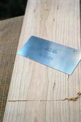 00540009-84 (jjldickinson) Tags: olympusom1 fujicolorsuperiaxtra400 roll396 promastermcautozoommacro2870mmf2842 promasterspectrum772mmuv wrigley wood cherry board printmaking woodblock mokuhanga woodgrain ganahllumbercompany lienielsentoolworks tool scraper longbeach