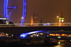 Big Ben (al-absi) Tags: bridge light london eye night canon river boats rebel boat big slow ben shutter times xs wesminister