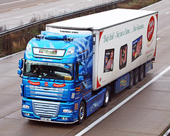 DAF XF 12 KY 807 (gylesnikki) Tags: blue ireland irish truck artwork artic airbrush paintjob rmstitanic mcauliffetrucking